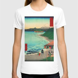 Shichirigahama Beach and Mount Fuji Japan T-shirt
