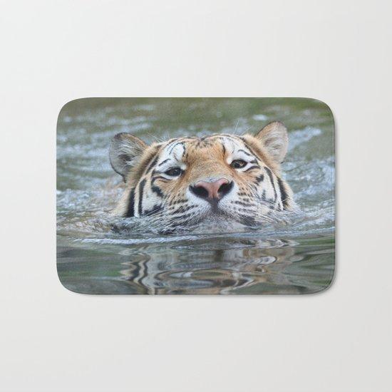 Swimming tiger Bath Mat