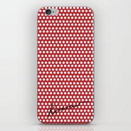 Polka Dots Red iPhone Skin