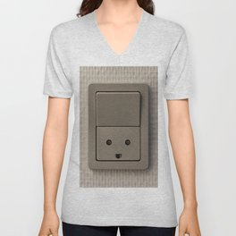 Smiling Power Outlet Unisex V-Neck