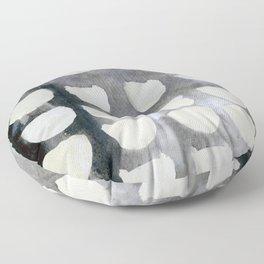 Monocromatic Watercolor Floor Pillow