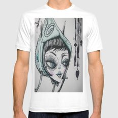 nocturna MEDIUM Mens Fitted Tee White