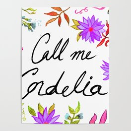 Call Me Cordelia - Purple Flowers Poster
