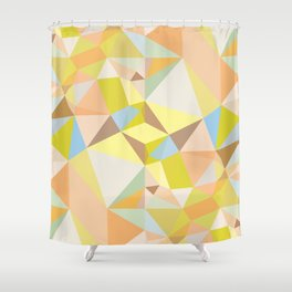 Pastel Earth Tone Triangle Pattern Shower Curtain