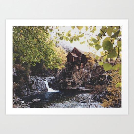 The Crystal Mill Art Print