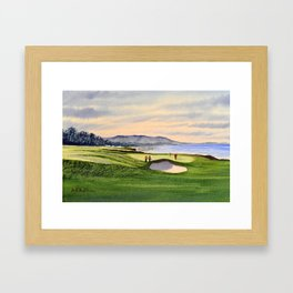 Pebble Beach Golf Course 9th Green Framed Art Print