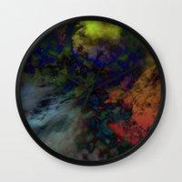 interstellar Wall Clocks featuring Interstellar  by AURA by MJ