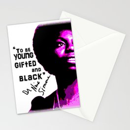 Nina Simone - To be Young Gifted and Black Stationery Cards