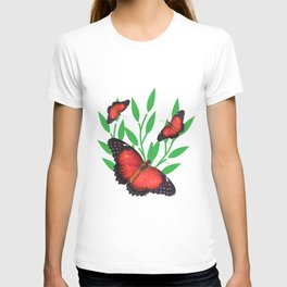 Red Lacewing Butterflies T-shirt