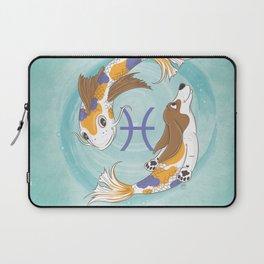 Pisces Zodiac Basset Hound Laptop Sleeve
