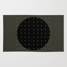 """Grey & Polka dots central circle pattern"" Rug"