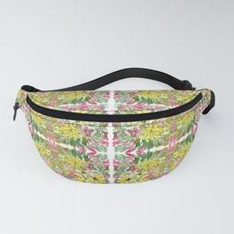 Traditional floral mosaic pattren design Fanny Pack