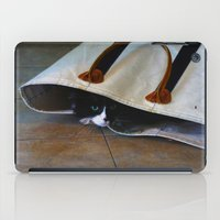 tote bag iPad Cases featuring Gracie's Got a Brand New Bag! by Bob Benenson Photo Art