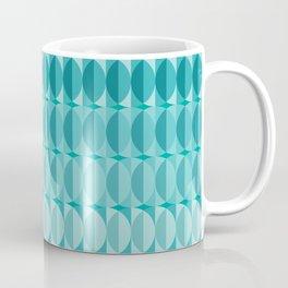 Leaves in the moonlight - a pattern in teal Coffee Mug