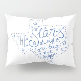Stars at Night in blue Pillow Sham