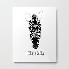Zebra Cadabra Metal Print