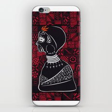 Tribal woman with traditional patterns iPhone Skin
