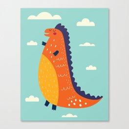 Funny Dinosaur Canvas Print