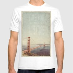 Time for Adventure White Mens Fitted Tee MEDIUM