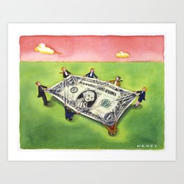 Dollar Safety Net Art Print