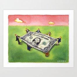 Dollar Safety Net Art Print
