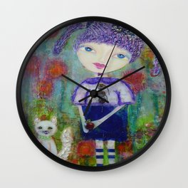 Viola & Lipstick - Whimsies of Light Children Series Wall Clock