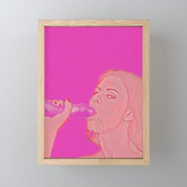 Pink blowjob Framed Mini Art Print