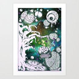 Galaxy Crusher Art Print