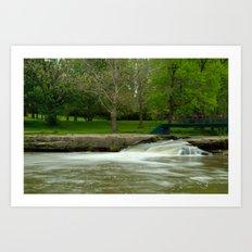 Crossover at Falls Park, Pendleton, IN Art Print