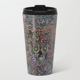 Sensory Overload Skull in Pastels Travel Mug