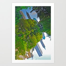 The Pond Reflections 4 - Central Park, NYC  Art Print