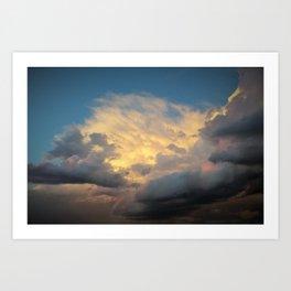Angry Skies, Sad Goodbyes Art Print