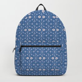 Blue Ditsy Daisy Floral Backpack