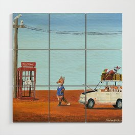 The Out of Service Phone Box Wood Wall Art