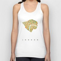 london map Tank Tops featuring London by Nicksman