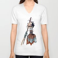 native V-neck T-shirts featuring Native  by PAFF