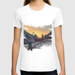 Mountains sunset T-shirt