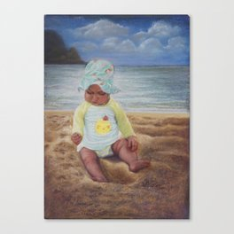 Penelope Discovers Sand Canvas Print