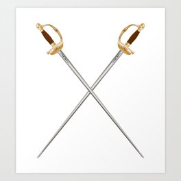 Crossed Infantry Swords Art Print