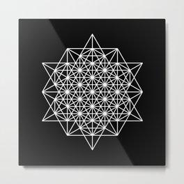 White star tetrahedron Metal Print