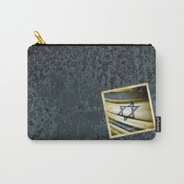 Israel grunge sticker flag Carry-All Pouch