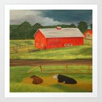 farm Art Prints featuring Farm by ArtSchool