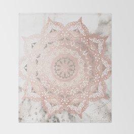 Dreamer Mandal Rose Gold Throw Blanket