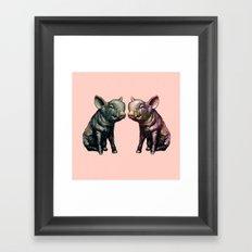 true love (pig love) Framed Art Print