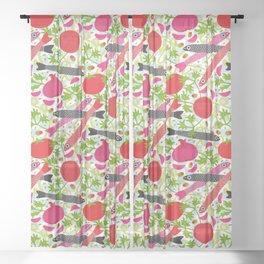 PASTA CON MOLLICA DI PANE Pattern Sheer Curtain