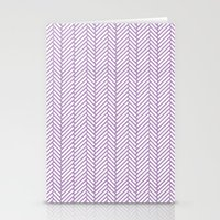 herringbone Stationery Cards featuring Herringbone Orchid by Project M