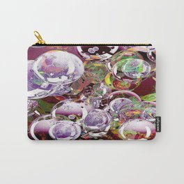The hope is an iridescent bubble which colors fleetingly the life. Carry-All Pouch