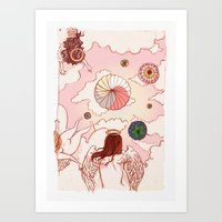 When Angels Watch Us Fly Art Print