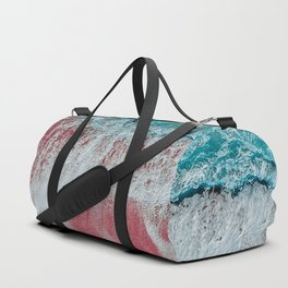 SPLASH - Electric Pink Sand and Turquoise Waves Duffle Bag
