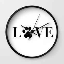 Love animal Wall Clock
